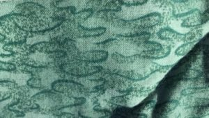 photo of light green fabric with puddles design