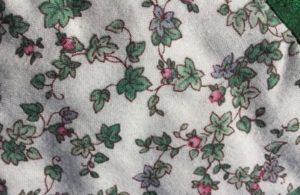 photo of buds and leaves fabric