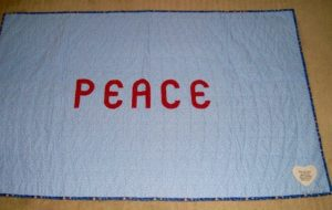 Photo of back of a Peace Quilt from Her Affirmation Quilt Ministry