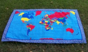 Photo of the front of Peace Quilt